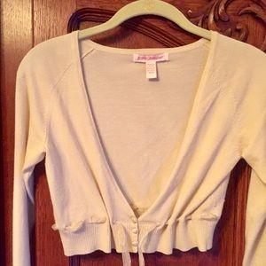 Betsey Johnson cropped cardigan